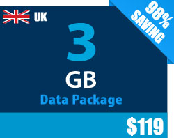 UK 3 GB Data Package