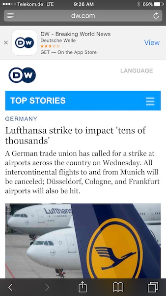 Keeping up with German airport strike news