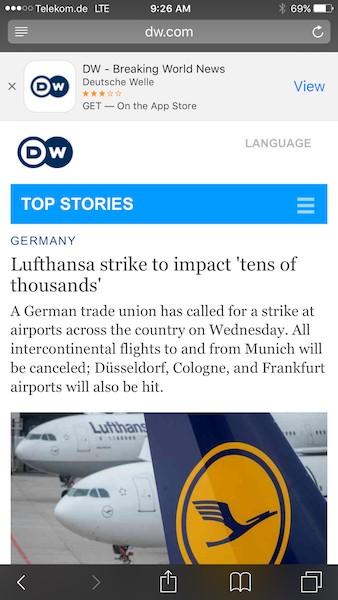 Keeping up with German airport strike news