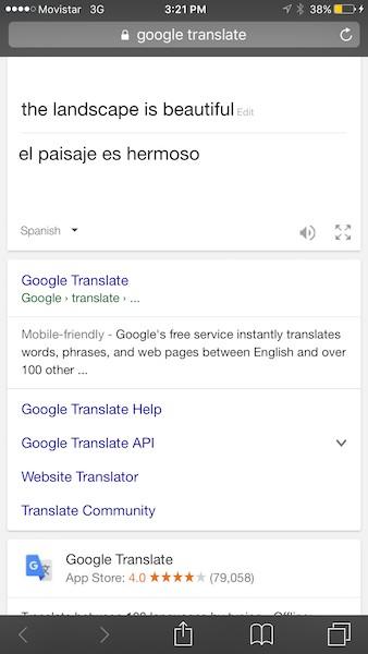 Using Google Translate on the International SIM Card