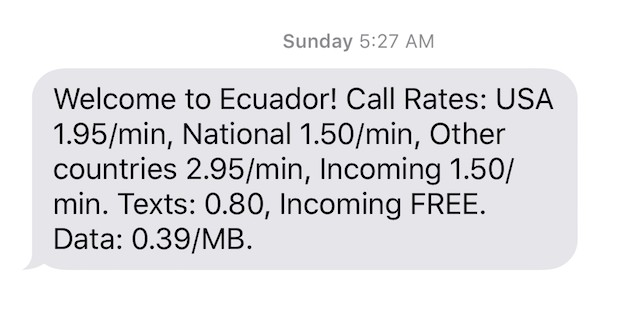 Text from Mobal SIM Card Usage