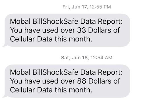 Usage Reports on the Mobal International SIM Card