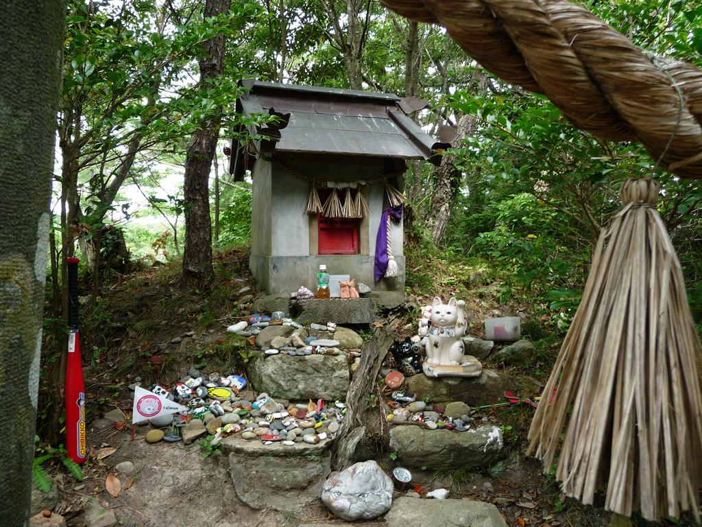Cat Shrines at Tashirojima, Japan