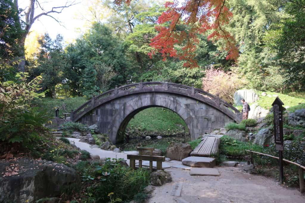 Koishikawa Korakuen Garden's Full Moon Bridge