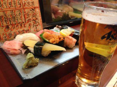 draft japanese beer pub food