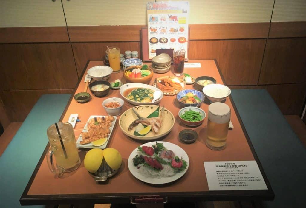 typical izakaya food meal japan 2019