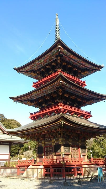 The Naritasan three-storied pagoda