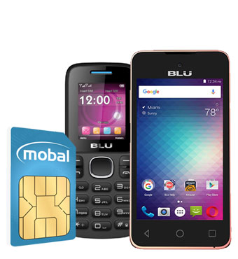 Mobal World Phone and Sim Card